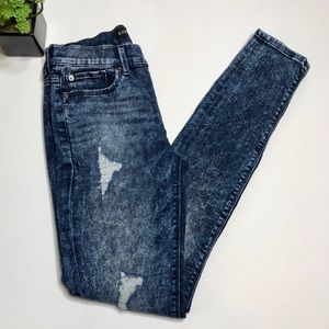 Express distressed high-rise mineral wash jegging